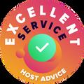 Ние отделихме време, лично и анонимно да проверим всяка потребителска услуга на компанията.  Значката за отлични постижения бе връчена на хостинг компании, които покриват високите стандарти за потребителски услуги на HostAdvice, обозначавайки, че услугата на наградените компании е бърза, ефикасна, професионална и преди всичко, полезна.