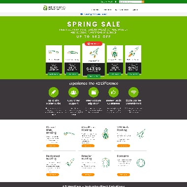A2 Hosting HomePage Screenshot